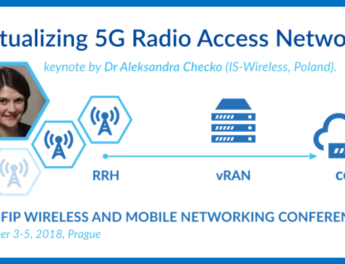 """Virtualizing 5G Radio Access Network"" keynote by Dr Aleksandra Checko"