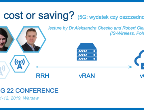 """5G: cost or saving?"" presentation by IS-Wireless during PLNOG conference in Warsaw!"
